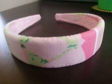"LILLY PULITZER Headband Cotton Poplin ""BIKINI PATCH"" Swarovski Crystals - New"