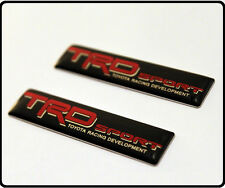 2x TRD Car Badge Emblem Decal Sticker CELICA YARIS Door Wing Rear Boot Fender 45