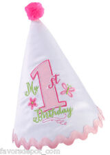 first birthday hat 1st girl birthday pink party hat