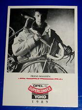 carte  CYCLISME COUREUR CYCLISTE FRANS MAASSEN SUPERCONFEX YOKO OPEL 1989