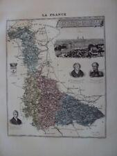 GRAVURE DE VILLEMIN 1906 CARTE MEURTHE ET MOSELLE