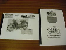 Mobylette Moped/ AV89 / Workshop manual+Spare parts list /With Exploded Diagrams