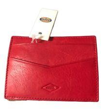 Fossil wallet Elliot magic elastic card case red leather bi fold