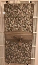 French Luggage Co Grey Rose Dress Garment Bag Gray Floral Tapestry Suede Leather
