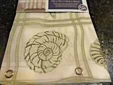 New Sea Shells~Star Fish Gray Rope Tropical Peva Shower Curtain~metal grommets