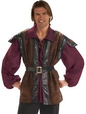 Medieval Mercenary Costume Mens Adult Renaissance Brigand Highway Robber Crook