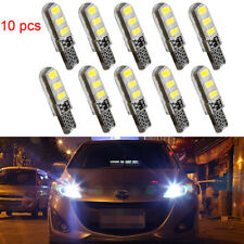 10 White T10 6SMD Car Silica Gel LED Wedge Light Plate License 194 2825 501 Bulb