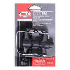 Bell Kicks 550 Universal Metal/Plastic Bike Bicycle 9/16 & 1/2 Pedals Set Pair