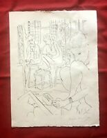 """Henri Matisse """" And The Modèl Reflété Dans Mirroir """" Cahiers D'Art 45X60"""