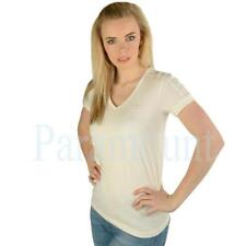 adidas Cotton V Neck Short Sleeve T-Shirts for Women