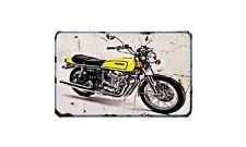 Cb750 F1 Motorbike Sign Metal Retro Aged Aluminium Bike