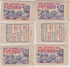6 BUSTINE PIENE FIGURINE NEL MONDO DEL FUTURO - EDIZIONI LAMPO 1956 - NO PANINI