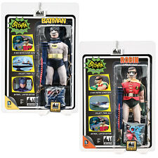 Batman 66 Classic TV Show Mego Style Figures: Set of 2 Deluxe Breather Variants