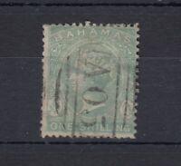 Bahamas QV 1882 1/- Green SG39b Fine Used JK621