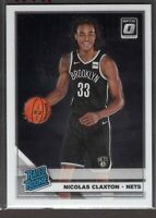 2019-20 Donruss Optic Basketball Rookie Card RC Nicolas Claxton #171 Nets -E