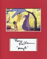 Bruce Reitherman Disney The Jungle Book Mowgli Signed Autograph Photo Display