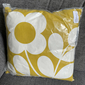 BNWT Orla Kiely cushion square stem buttercup yellow 45x45cm reversible 2 Of 2