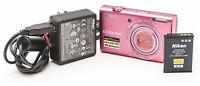 Nikon Coolpix S6200 Digitalkamera 16 Megapixel pink rosa