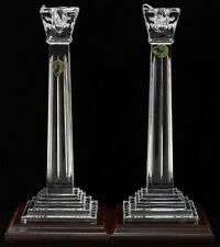 WATERFORD WASHINGTON BICENTENNIAL PAIR CANDLESTICKS W/ BASE AMERICAN HERITAGE