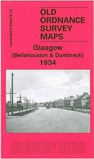 MAP OF GLASGOW (BELLAHOUSTON & DUMBRECK) 1934