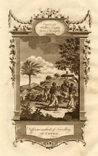 """""""Methods of travelling in Congo"""". Stretcher sedan chair. MIDDLETON 1779 print"""