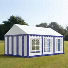 Marquee 4x6m Pblue white VC 500g/m² party tent waterproof easy to assemble