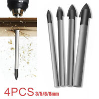 4pcs Porcelain Spear Head Ceramic Tile Glass Marble Drill Bits Set 4/6/8/10mm