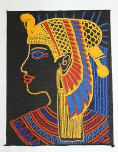 Egyptian Head - hand embroidered picture