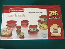 New listing Rubbermaid 28 Piece Food Storage Takealongs Easy Find Lids Bpa Free New