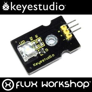 3pcs Keyestudio 8mm White LED KS0016 Arduino 5V DC Pi Piranha Flux Workshop