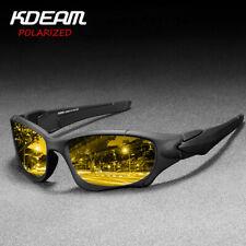 Gafas de sol hombre kdeam deportes al aire libre polarizadas gafas de visión nocturna UV400