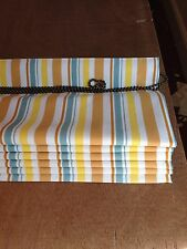Roman Blind Shabby Chic Striped, Made To Measure, 4 Colours Available