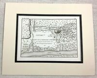 1821 Antique Map of Olympia Ancient Greece Greek Typography Old Rare Engraving