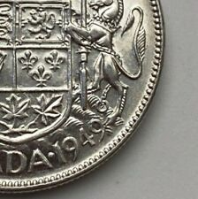 CANADA 1949 NARROW DATE 50 CENTS KING GEORGE VI  .800 SILVER  C11
