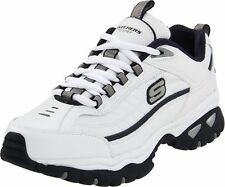 Skechers Sport Men's Energy Afterburn Lace-Up Sneaker White/Navy 12 3E US New!