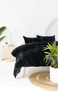 Ultra Luxury Crushed Green Velvet Duvet Cover Quilt Cover Boho Comforter Cover