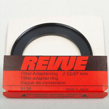 Step Up 52 - 67mm Filter Adapter Ring Revue 8138 Made in Japan Vintage