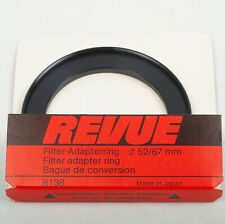 Revue 8138 Step Up 52 - 67mm Filter Adapter Ring Made in Japan Vintage