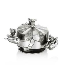 Royal Selangor Pewter Jet Rocket Music Box Carousel - Bunnies Day Out Collection