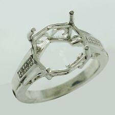 Semi Mount 925 Sterling Silver Ring Cushion Shape 12 MM Eternity Women Jewelry
