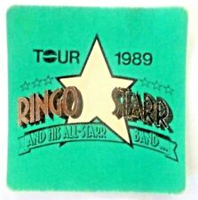 The Beatles- RINGO STARR and HIS ALL-STARR BAND -Tour 1989 -Cloth Backstage Pass