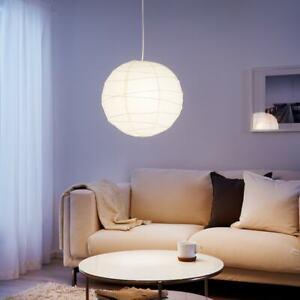1 2 3 4 5 6 Ikea Regolit  Pendant Lamp Shade White Rice Paper hanging 701.034.10