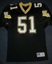 75d608b79 AUTHENTIC Russell Athletic SAM MILLS New Orleans Saints Black Jersey 44  Panthers