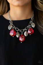 Looking Glass Glamorous Red Necklace By: Paparazzi