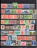 1941 to 1965 ***MUH*** 59 ASSORTED STAMPS - Pre Decimal - SUPERB.