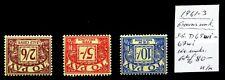 More details for gb 1961-3 postage dues (3) inverted/wmk error/variety cat £80 u/m dm769