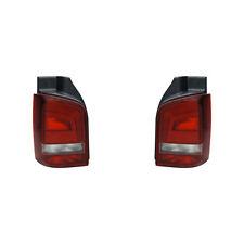 2 FEUX ARRIERE VW T5 HAYON 3/2003 A 5/2016 CONDUCTEUR + PASSAGER ROUGE FUME