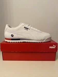 Men's Puma Roma BMW Motorsport Trainers White Size 10.5 UK Brand New