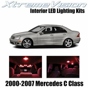 XtremeVision Interior LED for Mercedes C Class 2000-2007 (14 PCS) Red