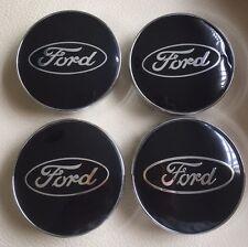FORD FIESTA FOCUS MONDEO ALLOY WHEEL CENTRE CAPS BLACK CHROME 60MM